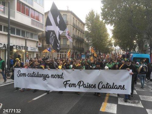 Centenares de personas se manifiestan en Perpignan (Francia) por la Diada de Catalunya Nord