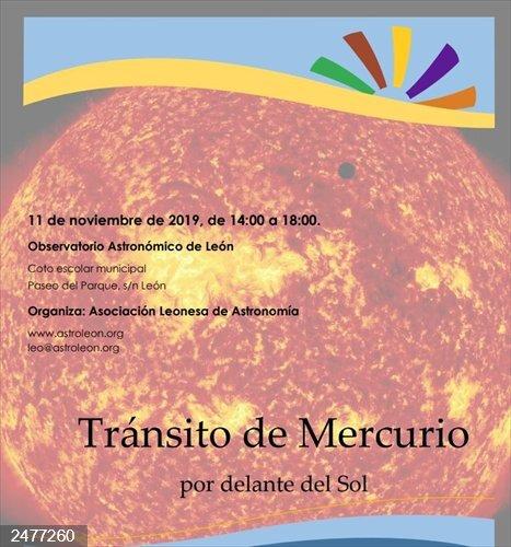 La Asociación Leonesa de Astronomía organiza mañana una sesión de observación del paso de Mercurio por delante del Sol