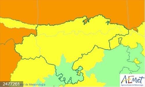 Temporal.- Cantabria continúa hoy en aviso por nieve, lluvia y fenómenos costeros