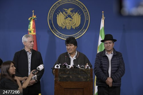 Bolivia.- Evo Morales convoca una mesa de diálogo con la oposición para