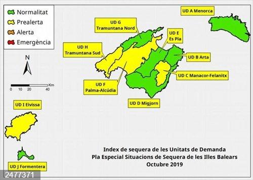 Las reservas hídricas de Baleares se sitúan en el 52% en octubre