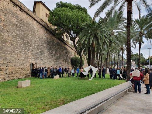 El Ayuntamiento de Palma abre al público un antiguo refugio antiaéreo, ubicado en el Paseo Sagrera