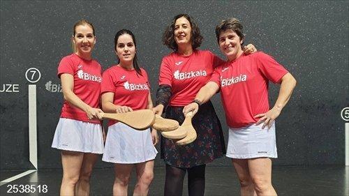 El II Torneo Bizkaia de Paleta Cuero Femenino comenzará este próximo viernes en Larrabetzu
