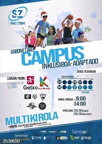 Haszten celebrará en Getxo y Barakaldo un campus inclusivo multideporte durante la Navidad