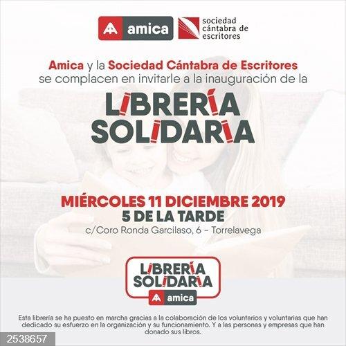 Amica inaugurará el miércoles su librería solidaria en Torrelavega