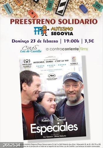 Segovia acoge el preestreno solidario de la película 'Especiales' el 23 de febrero los cines Luz de Castilla