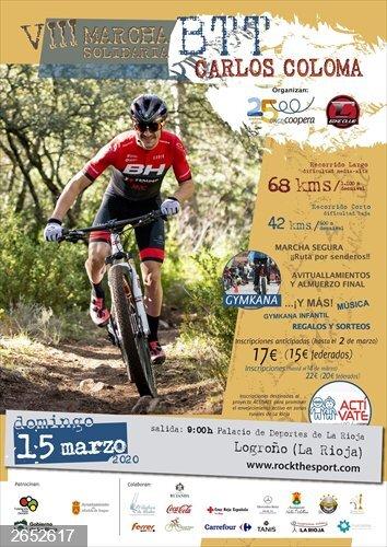 El próximo 15 de marzo tendrá lugar la VIII Marcha BTT Solidaria Carlos Coloma