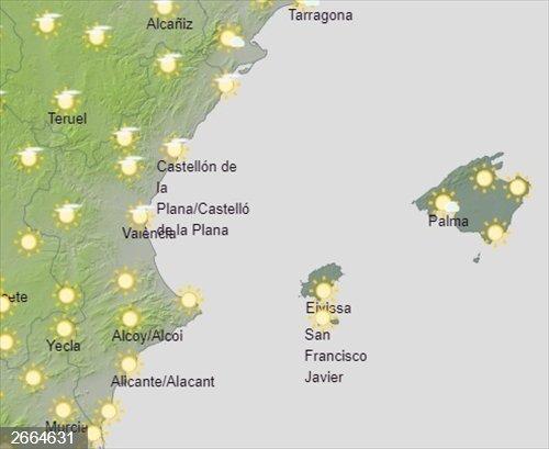 La Comunitat Valenciana vivirá un sábado soleado con temperaturas máximas que rozarán los 20 grados