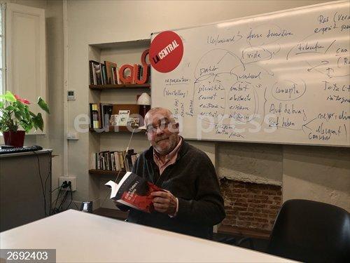 Àlvar Valls en la presentación del la novela
