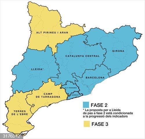 AMP.- Coronavirus.- La Generalitat plantea que Barcelona pase a Fase 2 el lunes 8 de junio