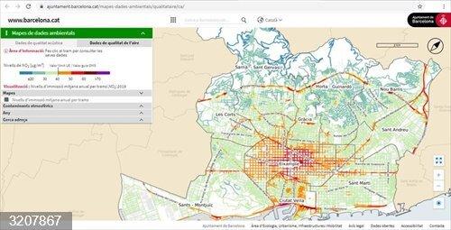 Barcelona instala una nueva estación para medir la contaminación en la avenida Meridiana
