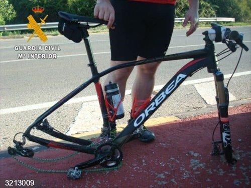Sucesos.- Herido un ciclista en un atropello en la NA-160, en el término municipal de Fitero
