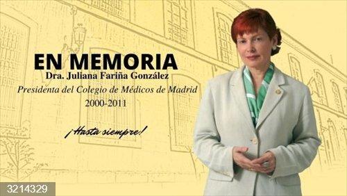 Muere Juliana Fariña González, primera presidenta del Colegio de Médicos de Madrid