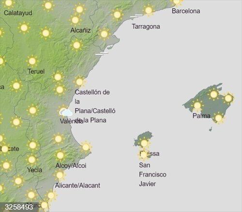 La Comunitat Valenciana arranca agosto con temperaturas por encima de 40 grados en el interior y puntos del litoral