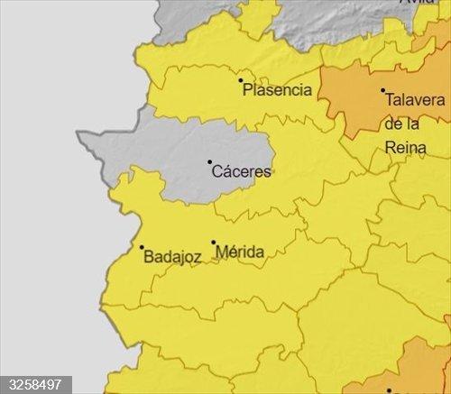 El aviso amarillo por altas temperaturas se amplía a las zonas de la Siberia, de Barros y Serena y al sur de Badajoz