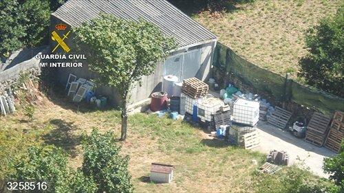 Desmantelan en A Coruña un laboratorio de falso gel hidroalcohólico que mezclaban con aguardiente y vendían a hospitales