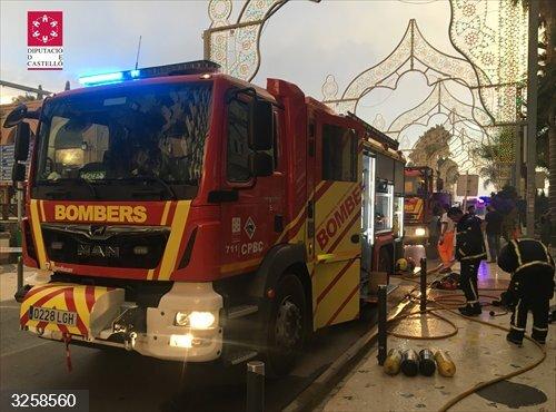 Castellón.- Sucesos.- Desalojadas 160 personas por un incendio en un balneario de Orpesa