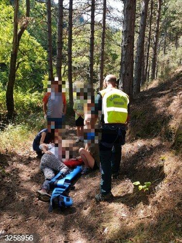 Zaragoza.- Sucesos.- Rescatada una senderista accidentada, en el término municipal de Talamantes