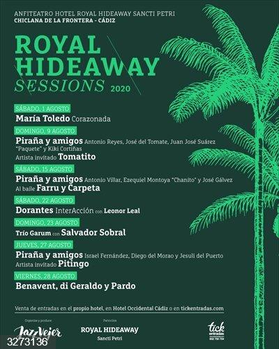 Cádiz.- Pitingo, Dorantes y Salvador Sobral en la recta final de las Royal Hideaway Sessions