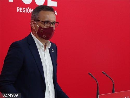 Cvirus.- Conesa (PSOE) pide al Gobierno regional que refuerce la sanidad pública y contrate más rastreadores