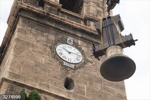 Valencia.- La campana mayor de Santa María del Mar voltea de nuevo tras diez años al concluir su restauración