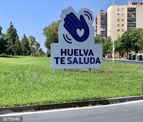 HuelvaCiudad.- Turismo.- Instalan vallas de bienvenida en el marco de la campaña de promoción turística de Huelva