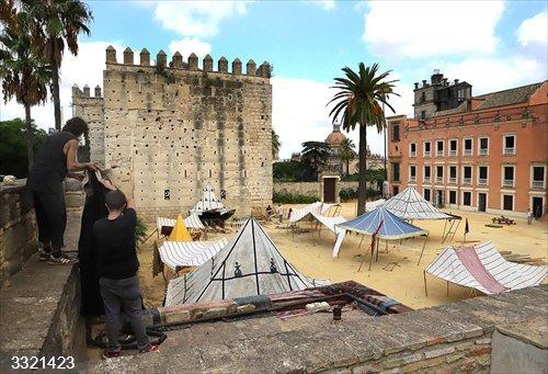 Cádiz.- El Alcázar de Jerez acoge el rodaje de la serie lusa 'Fernao Lopes. O Soldado Desconhecido'