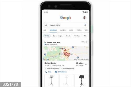 Google ya permite buscar productos cercanos en el mapa desde su pestaña de compras