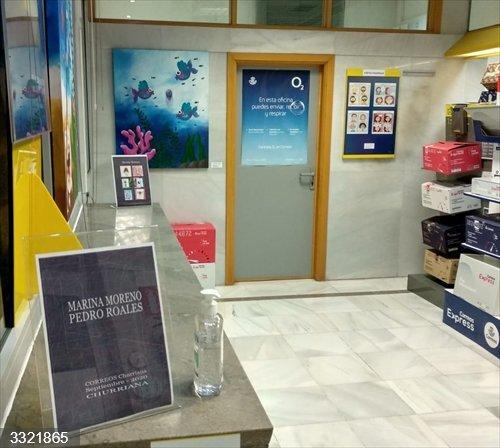 Málaga.- La oficina de Correos de Churriana se suma al circuito artístico organizado para dinamizar el comercio local
