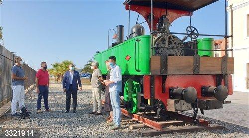 Huelva.- El Ayuntamiento de Aljaraque restaura la locomotora Odiel, declarada BIC y una de las más antiguas de España