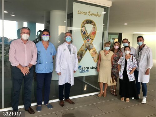 Almería.- El Hospital Universitario Torrecárdenas se suma a la campaña 'Lazos dorados' en apoyo a los niños con cáncer