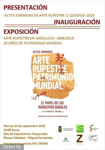 Jaén.- Quesada reivindica el Patrimonio Mundial de las pinturas rupestres con un libro y una exposición