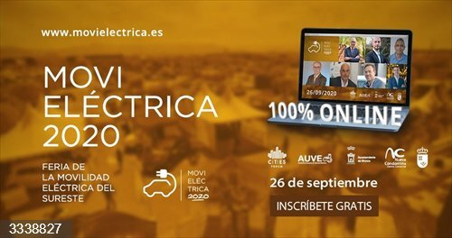 Movieléctrica 2020, la Feria de la Movilidad Eléctrica del Sureste, se celebra este sábado de forma virtual