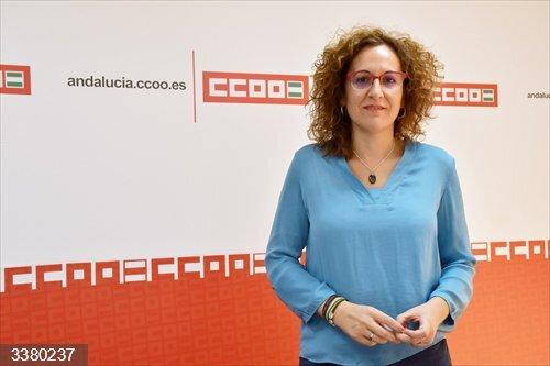 La secretaria general de CCOO-A, Nuria López.<br>REMITIDA / HANDOUT por CCOO-A<br>Fecha: 16/10/2020.                 <br>Fotografía remitida a medios de comunicación exclusivamente para ilustrar la noticia a la que hace referencia la imagen, y citando la procedencia de la imagen en la firma