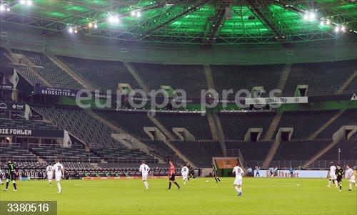 General view during the German championship Bundesliga football match between Borussia Monchengladbach and VfL Wolfsburg on October 17, 2020 at Borussia Park in Monchengladbach, Germany - Photo Ralf Ibing / firo Sportphoto / DPPI