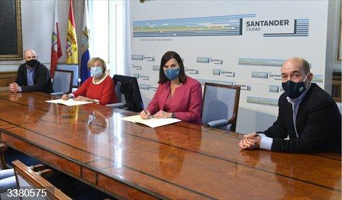Santander.- Nuevo convenio Ayuntamiento-AMPROS para realizar actividades para personas con discapacidad intelectual
