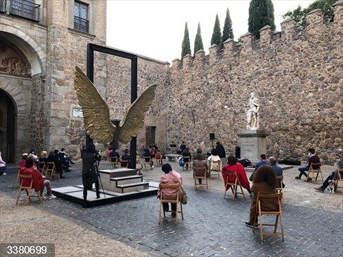 Música en las murallas en Toledo<br>REMITIDA / HANDOUT por AY TOLEDO<br>Fecha: 18/10/2020.                 <br>Fotografía remitida a medios de comunicación exclusivamente para ilustrar la noticia a la que hace referencia la imagen, y citando la procedencia de la imagen en la firma