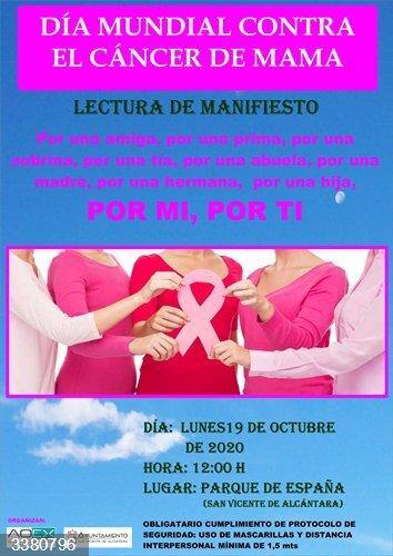 San Vicente de Alcántara conmemorará el Día contra el Cáncer de Mama con una marcha rosa virtual con tres rutas