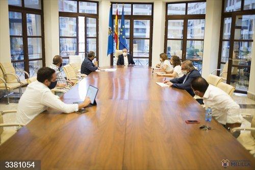 Foto de archivo de una reciente reunión del Gobierno de Melilla<br>REMITIDA / HANDOUT por GOBIERNO DE MELILLA<br>Fecha: 18/10/2020.                 <br>Fotografía remitida a medios de comunicación exclusivamente para ilustrar la noticia a la que hace referencia la imagen, y citando la procedencia de la imagen en la firma