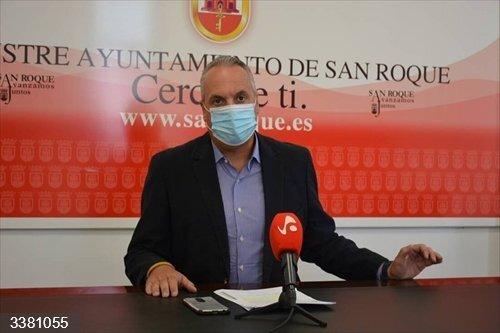 El alcalde de San Roque.<br>REMITIDA / HANDOUT por AYUNTAMIENTO DE SAN ROQUE<br>Fecha: 18/10/2020.                 <br>Fotografía remitida a medios de comunicación exclusivamente para ilustrar la noticia a la que hace referencia la imagen, y citando la procedencia de la imagen en la firma