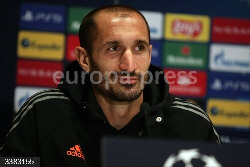 19 October 2020, Ukraine, Kyiv: Juventus' Giorgio Chiellini attends a press conference ahead of Tuesday's UEFA Champions League Group G soccer match against FC Dynamo Kyiv. Photo: -/Ukrinform/dpa