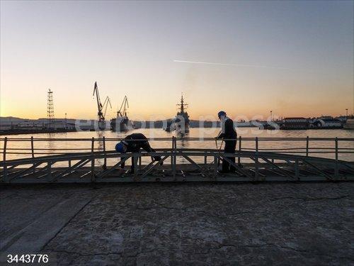La fragata 'Álvaro de Bazán' regresa a Ferrol tras permanecer cinco meses desplegada con la OTAN<br>Fecha: 22/11/2020.